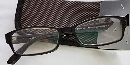 Foster Grant E-Z Readers Jameson Black Rectangular +1.75 with Soft Case