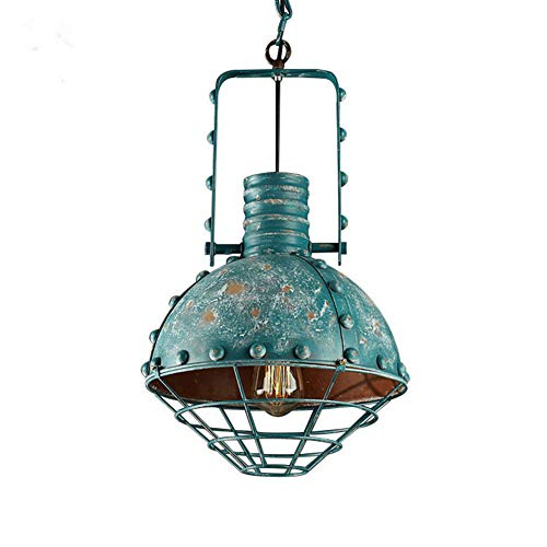 (FEE-ZC Industrial Pendant Lamp Shade Ceiling Lights Flush Mount Bronze Chandeliers Rustic Wrought Iron Lampshade Dining Room Living Room Study E27 110V-220V,)
