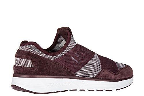 Armani Jeans scarpe sneakers uomo nuove originale bordeaux