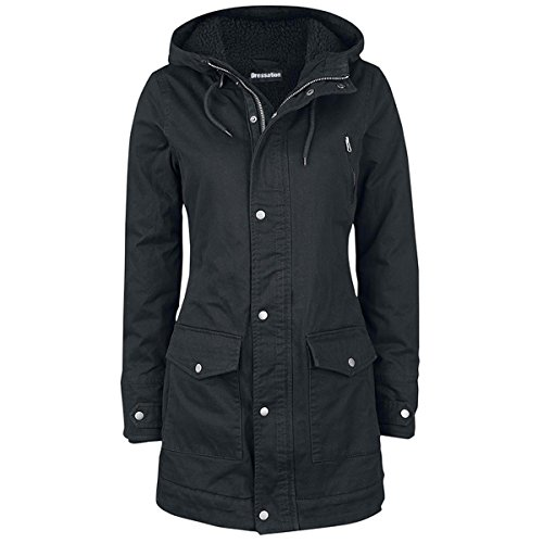 Womens Parka Hooded with Long Ladies Coat Dressation Warm Pockets Winter 5v7XwUxxq