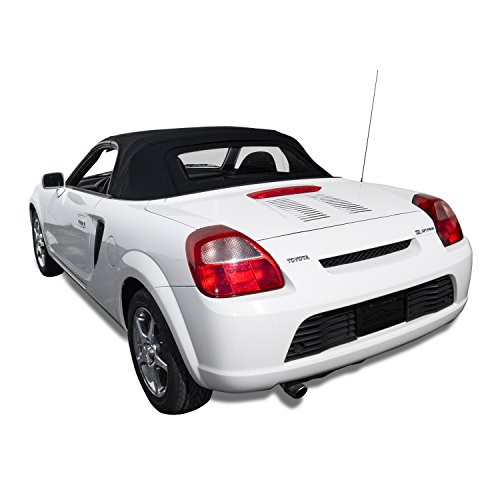 Toyota MR2 Convertible Top made from Haartz Stayfast Cloth with Heated Glass Window Black (Convertible Top Hold Down Cables)