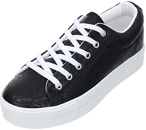7f7d1eda35c57 Maxstar Women's C50 7 Holes Zipper Platform Canvas High Top All Sneakers  Black 8.5 B(M) US