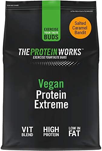 Proteína Vegana Extreme 500 g | Sabor Caramelo Salado | Gran fuente de Proteína vegetal