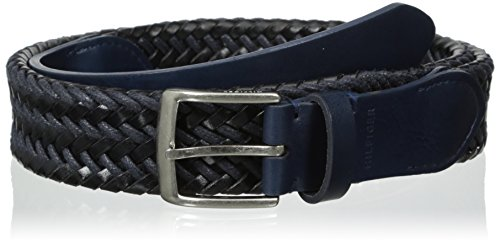 Tommy Hilfiger Men's Casual Braid-Weave Belt With Classic Buckle
