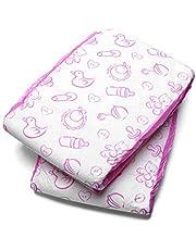 LittleForBig Bedrukte Luiers voor volwassenen babyluierliefhebbers ABDL 2 stuks-Kinderkamer Roze M