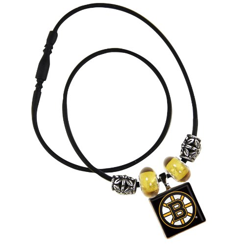NHL Boston Bruins Life Tiles Necklace with Beads Desire Jewelry