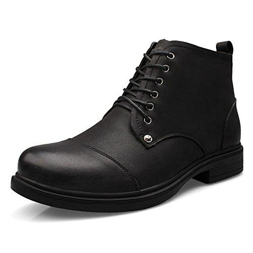 chukka pour hautes la noir Bottines chaudes hommes mode cuir en à et Rw8YUqd