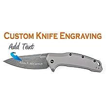 Custom Laser Engraved Kershaw Link Gray Aluminum Blackwash 1776GRYBW