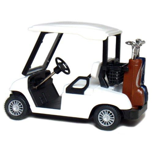 """4½"""" Die-cast Metal Golf Cart Model (White)"""