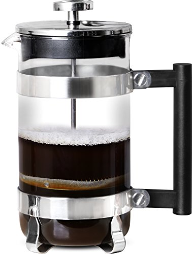 French Coffee Press (Chrome) - 34 oz Espresso and Tea Maker with Triple Filters, Stainless Steel Plunger and Heat Resistant Glass by Utopia Kitchen (Image #2)