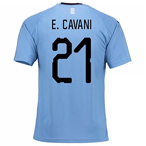 不完全な信じられない方法2018-2019 Uruguay Home Football Shirt (E. Cavani 21)