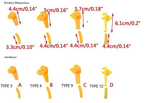 beler 5 Paar Nylon-Reifenmontiermaschine Teilmontage Demontagekopf Entenkopf Einsatz Felgenschutz B