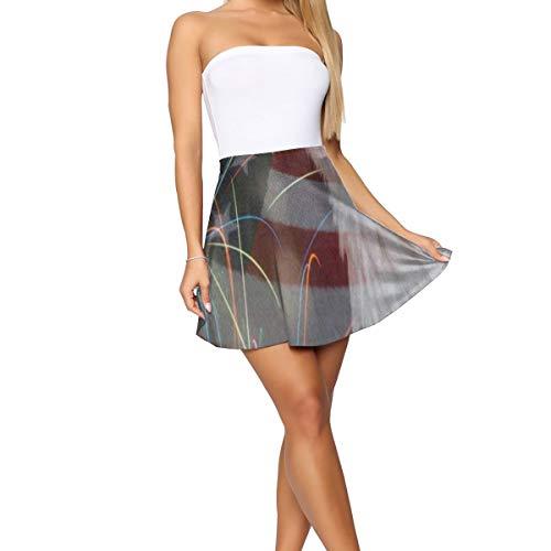 GREEDCLOUD Girl Dress,Fireworks Bald American Flag Amazing Short Skirt for Indoor Size:XL