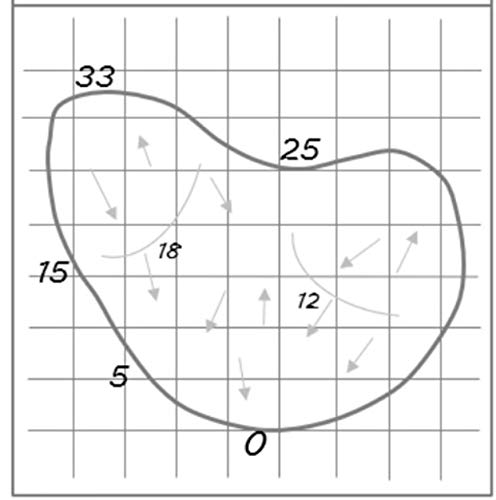 graphic relating to Printable Yardage Books identify Do-it-yourself Yardage Guide Stencil Shift toward Caddie Yardage Guides - Import