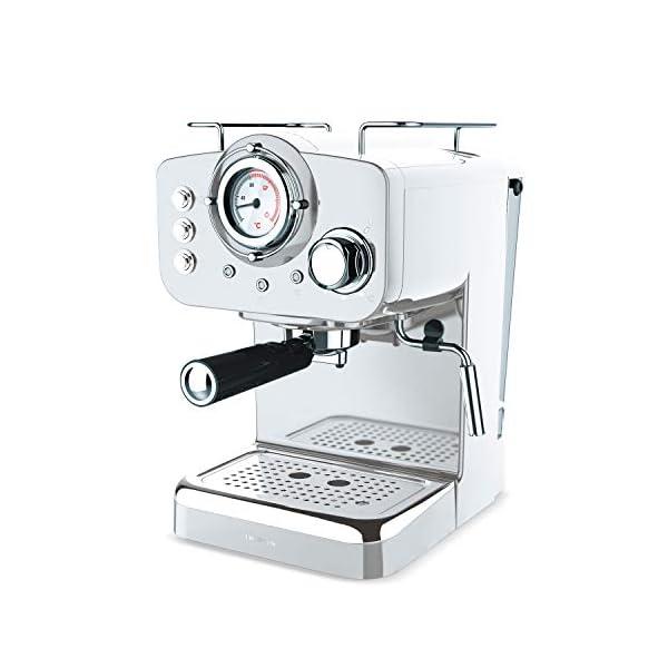 con Doble Salida IKOHS THERA Retro 1100W Caf/é Molido y Monodosis Capacidad 1.25l Vaporizador Orientable Color Negro Cafetera Express para Espresso y Cappucino 15 Bares
