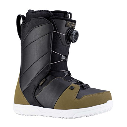Lock Boots Snowboard Boa - Ride Mens Anthem Snowboard Boots, Olive Black, 10.5