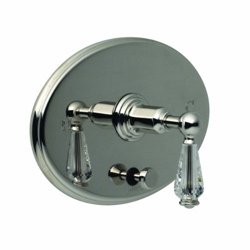 Santec 2935EC70-TM Vantage / Heritage Crystal Polished Nickel Pressure Balance Tub/Shower - Trim Only W/ Ec Swarovski ()