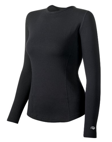 Duofold Women's Expedition Weight Two-Layer Thermal, Black, X-Large