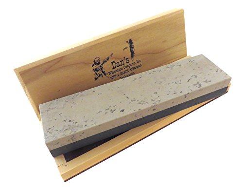 Combination Arkansas Stone (Genuine Arkansas Combination Soft (Medium) and Black Surgical (Ultra Fine) Knife Sharpening Bench Stone Whetstone 8