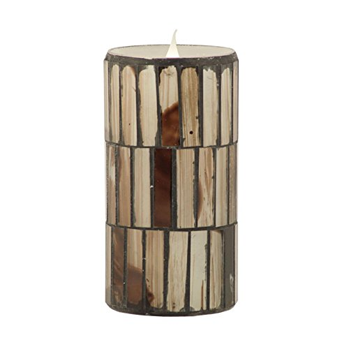 Pacific Accents Solare Distressed Mosaic Flameless Candle