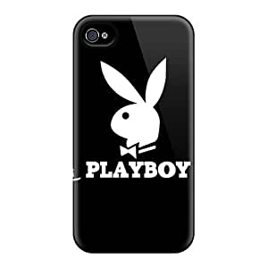 Protector Hard Phone Cases For Apple Iphone 4/4s With Unique Design High Resolution Playboy Logo Brand Advertising Pictures IanJoeyPatricia