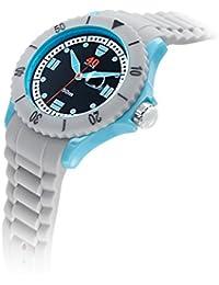 Men's 40NINE01/COOLGREY10 Extra Large 50mm Analog Display Japanese Quartz Grey Watch
