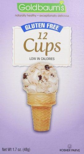 Goldbaum's Gluten Free Ice Cream Cone 1.7 oz 12 cups - Goldbaums Ice Cream Cones