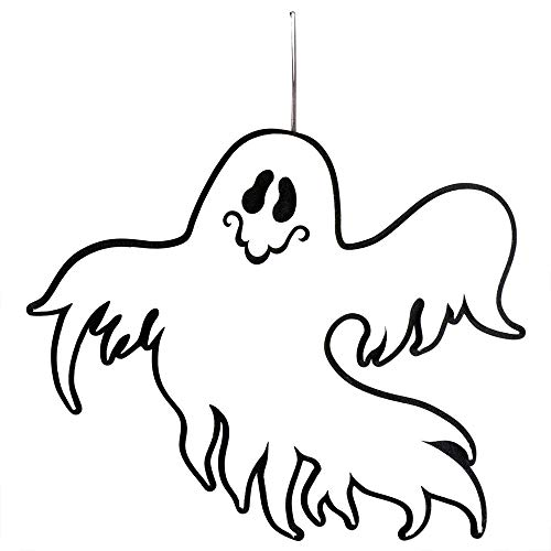 Aprettysunny Door Hanging Halloween Ornament Lively Ghost Non-Woven Fabric Home Decor