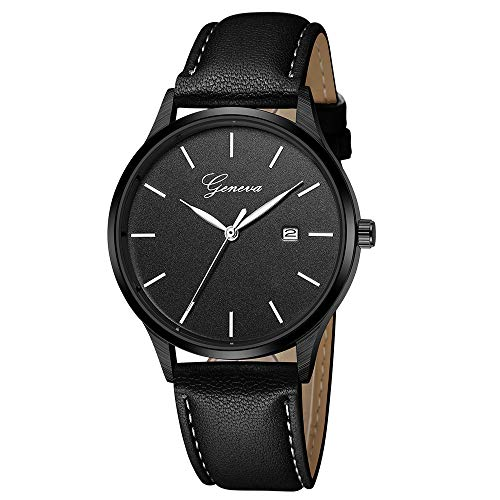 Zaidern Watches for Men,Men's Watch Luxury Casual Analog Quartz Wristwatches Classical Retro Simple Design Waterproof Stainless Steel Case Leather Band Round Dial Wrist Watches Business Dress Clock