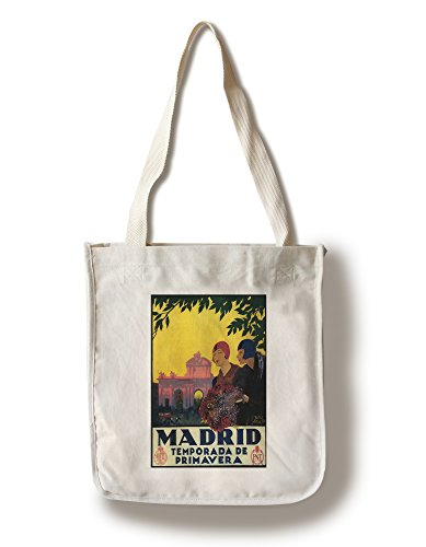Madrid, Spain - Madrid in Springtime Travel Promotional Poster (100% Cotton Tote Bag - Reusable) by Lantern Press