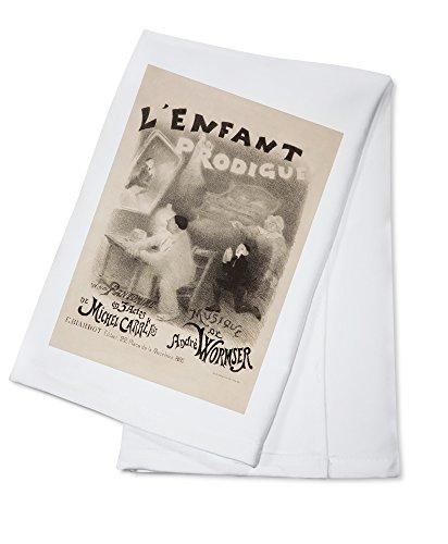 L'Enfant Prodigue Vintage Poster (artist: Willette) France c. 1890 (100% Cotton Absorbent Kitchen Towel)