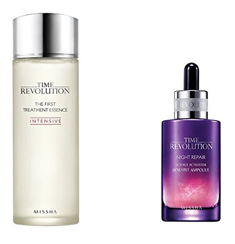 Missha Time Revolution the First Treatment Essence Intensive 150ml + Night Repair Serum (Repair Essence)