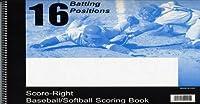 Score-Right 16 Positiion Baseball and Softball 30 Game Scorebook