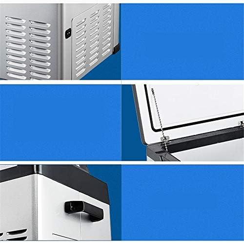 ポータブル冷蔵庫 家族旅行のハイキングの低ノイズに適した75Lポータブルコンプレッサー冷蔵庫冷凍庫大型冷蔵庫 車載家庭両用 (色 : 白, Size : 65.2X36.3X66.6CM)