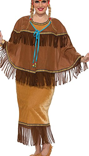 Plus Size Pocahontas Costumes (Forum Women's Native American Costume, Multi/Color, Plus)