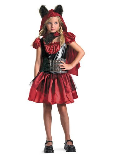 Disguise D/Ceptions 2 Lil' Red Riding Rage Classic Girls Costume, 7-8 by (Girls Red Riding Rage Costumes)