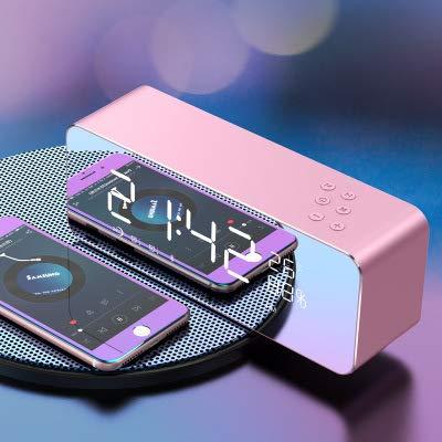 xingganglengyin Alarm Clock Speaker Audio Wireless Bluetooth subwoofer New Creative Bedside Mirror by xingganglengyin (Image #2)