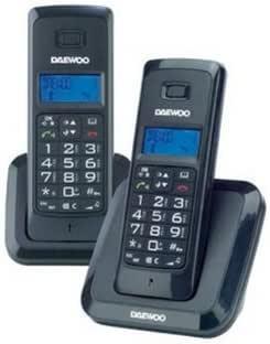 Daewoo DTD-1200 Duo - Teléfono (Teléfono DECT, Altavoz, 50 entradas, Identificador de Llamadas, Negro): Amazon.es: Electrónica