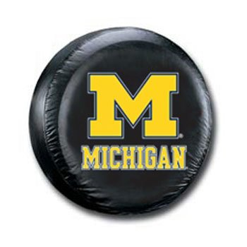 Wolverines NCAA Licensed Standard Black Spare Tire Cover ()