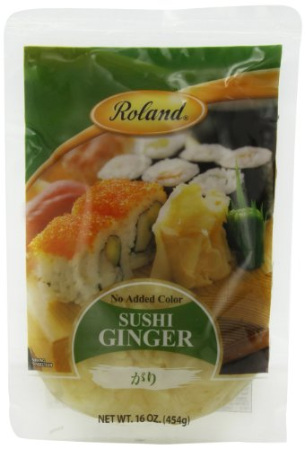 Pickled Gourmet (Roland Sushi Ginger, 16 Ounce (Pack of 6))