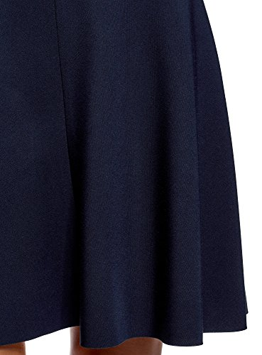 Femme Ceinture Bleu Jupe 7900n Godets avec Ultra oodji qx6Z5CwA6