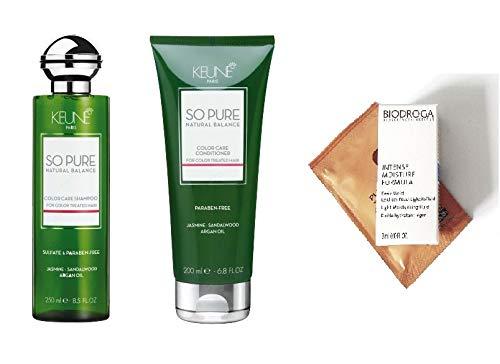KEUNE So Pure Natural Balance Color Care Shampoo 8.5 oz & Conditioner 6.8 oz DUO. Sulfate & Paraben-Free(2 FREE Hair & Skin care ()