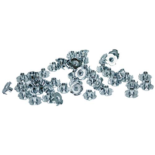 - TCH Hardware 100 Pack Steel 4 Prong T Nuts 10-32 x 5/16