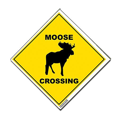 VictoryStore Yard Sign Outdoor Lawn Decorations: Moose Crossing Sign - 22