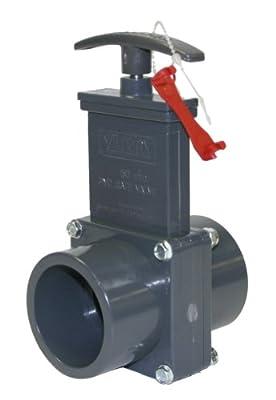 Valterra 8101X PVC Gate Valve, 50 mm Slip w/ Gate Keeper, PVC by Valterra Products