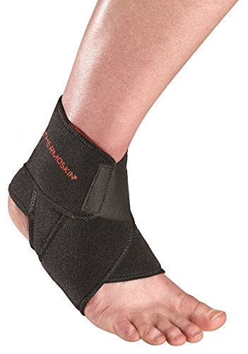 Thermoskin Sport Ankle Wrap, One Size, Black by Thermoskin