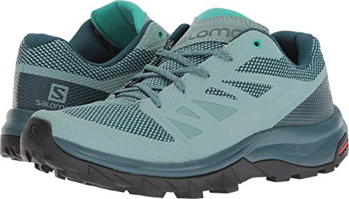 (Salomon Outline Hiking Shoes - Women's Trellis/Reflecting Pond/Atlantis 7.5)