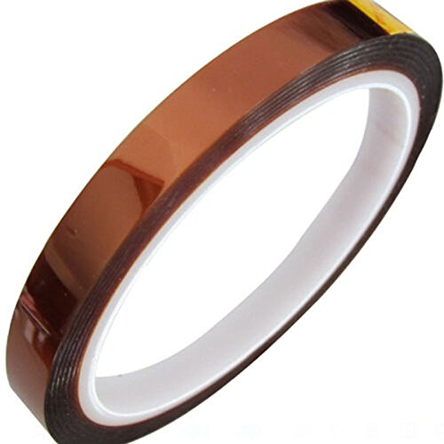 (EZOE - Kapton Polyimide High Temp Tape - High Temperature Heat Resistant Tape 3 Rolls Sublimation Dye Mug Electronic Insulation Polyimide Film Tape with Silicone Adhesive (10mm-1Pcs) )