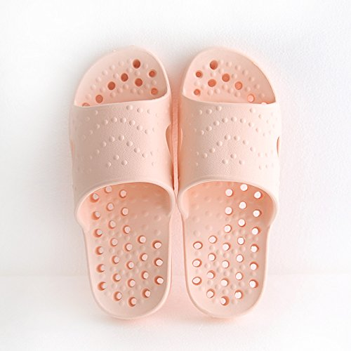 fankou The Bathroom Slippers Summer Female Indoor Exposed Bath Water Leaks and Deodorization and Stylish, Minimalist Cool Slippers Anti-Skid,39-40,G Between Men and Women.