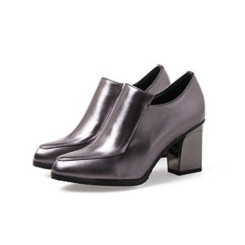 Balamasa Femmes Sans Fermeture Solide Pointu Orteils Chaussures Pompes En Argent